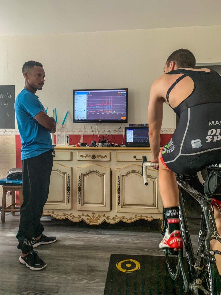 Boris Carene et Alexis Martin : évaluation de la puissance via un test sur home-trainer