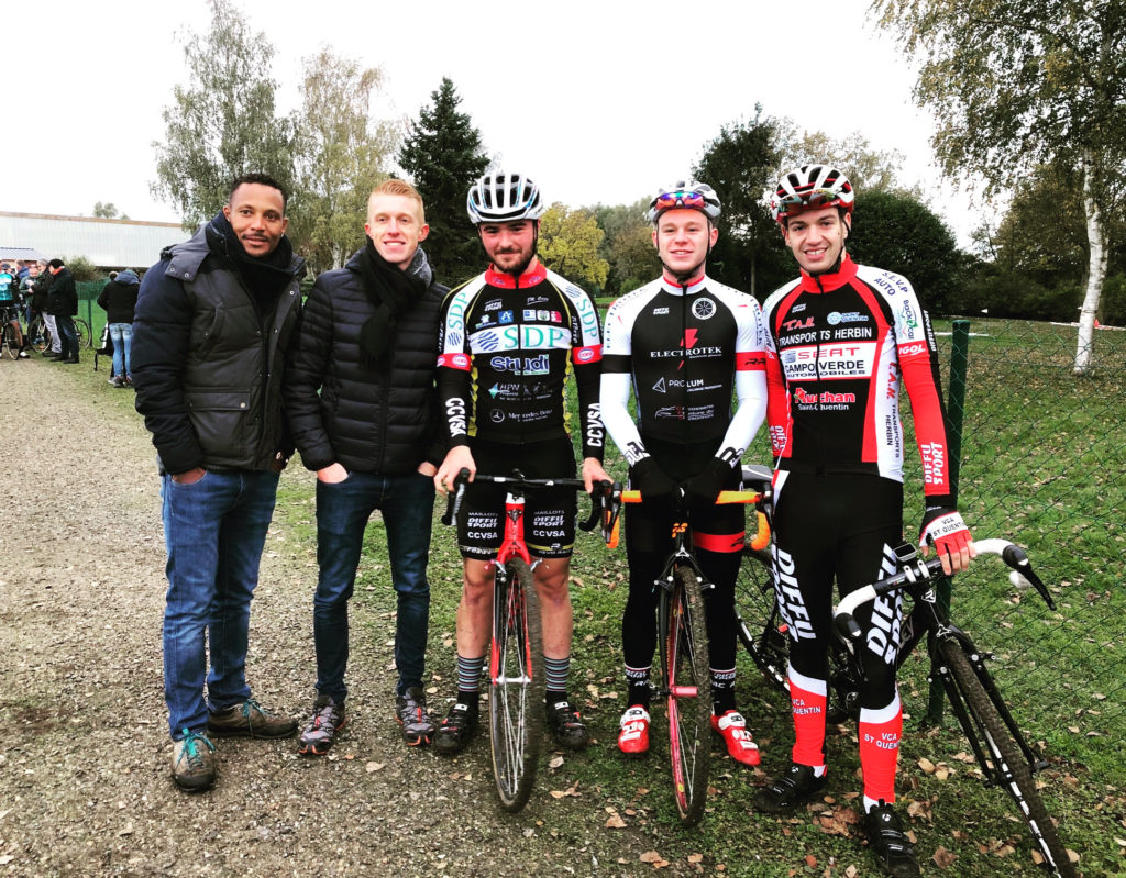 Boris, Maxim, Thomas, Antoine et Alexis au cyclo-cross de Beautor